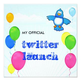 Twitter Launch 13 Cm X 13 Cm Square Invitation Card