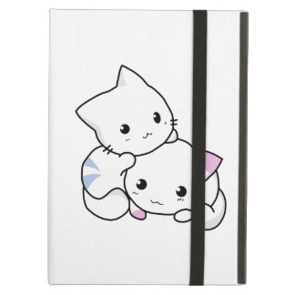 Two adorable baby kittens cuddle together cover for iPad air