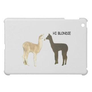 Two alpacas meet case for the iPad mini
