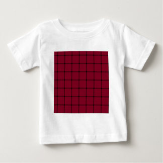 Two Bands Small Square - Black on Burgundy Baby T-Shirt
