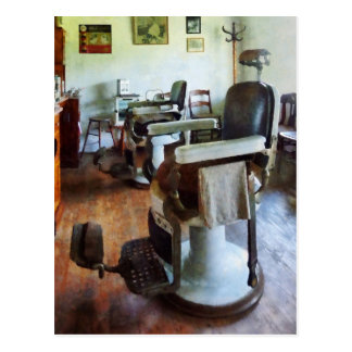 Two Barber Chairs Postcard