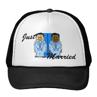 Two Blue Grooms Cap