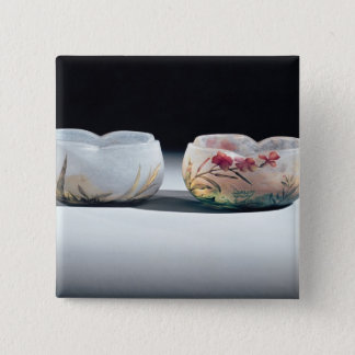Two bowls by Daum, Nancy, France 15 Cm Square Badge