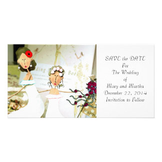 Two Brides Save the Date Custom Photo Card
