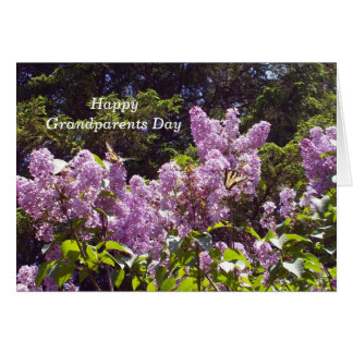 Two Butterflies on Lilac Bush Greeting Card