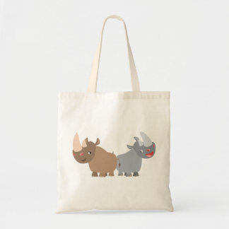 Two Cartoon Rhinos Bag
