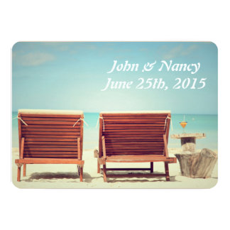 Two Chairs on the Beach Card