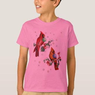 Two Chirstmas Birds Shirts