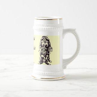 Two clowns funny beer mug