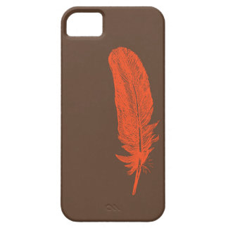 Two color feather phone case