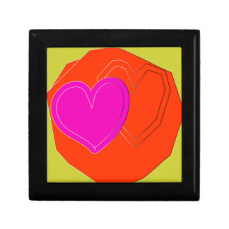 two color heart small square gift box
