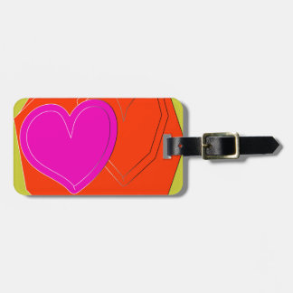two color heart tag for luggage