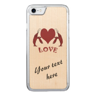 Two Crawfish Lobsters And Heart Carved iPhone 8/7 Case