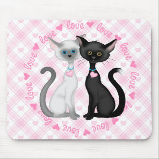 Two Cute Cats in Love Mousepads