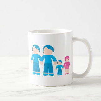 Two dads male Gay couple Family Coffee Mug