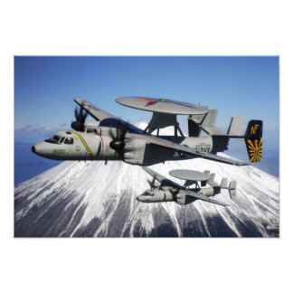 Two E-2C Hawkeyes conduct a flyby Art Photo