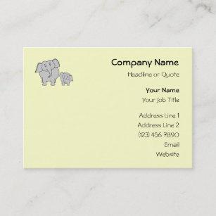 Cute baby elephant business cards zazzle nz two elephants cute adult and baby cartoon business card reheart Gallery