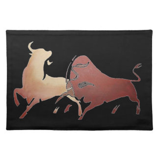 Two Fighting Bulls Placemat