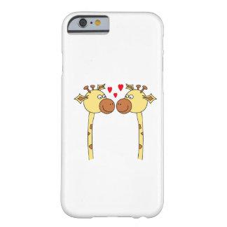 Two Giraffes with Red Love Hearts. Cartoon Barely There iPhone 6 Case