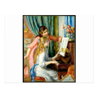 Two Girls at the Piano - Pierre Auguste Renoir Postcard