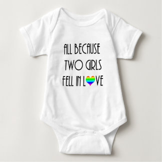 Two Girls Fell in Love Baby Bodysuit