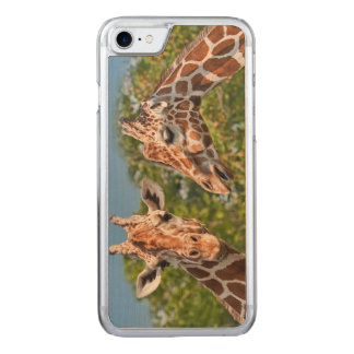 Two Gossiping Giraffes Carved iPhone 8/7 Case
