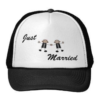 Two Grooms Dancing Happy Cap