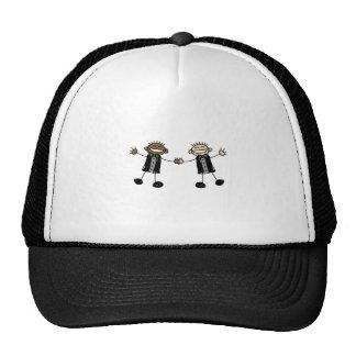 Two Grooms Dancing Happy Interracial Cap