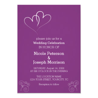 Two Hearts intertwined Purple Card