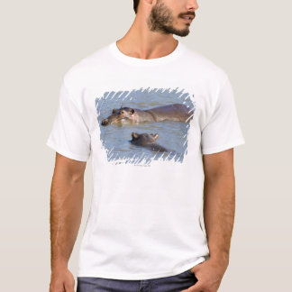 Two hippos in a river, Kruger National Park, T-Shirt