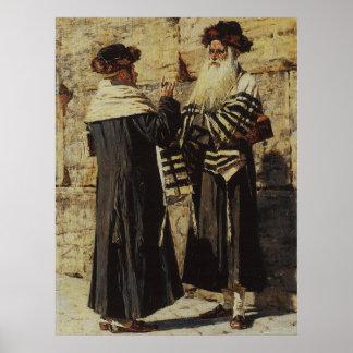 Two Jews Vasily Vereshchagin Russian Art Canvas Pr Poster