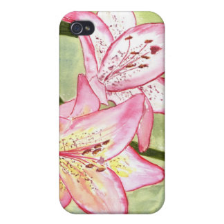 'Two Lilies' iPhone 4 Case