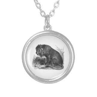 Two Lions in the Wilderness Pendant