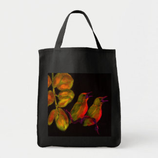 two little birds- yellow and orange canvas bags