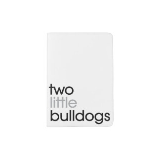 'Two Little Bulldogs' Passport Holder