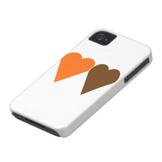 Two Love hearts, orange and brown Blackberry Bold Cases