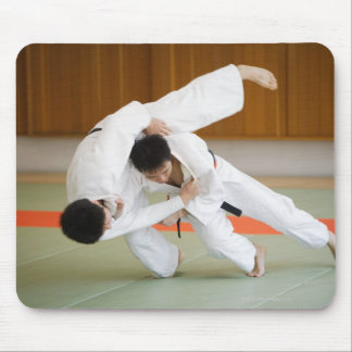 Two Men Competing in a Judo Match 2 Mouse Pad