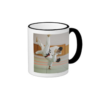 Two Men Competing in a Judo Match 3 Coffee Mugs