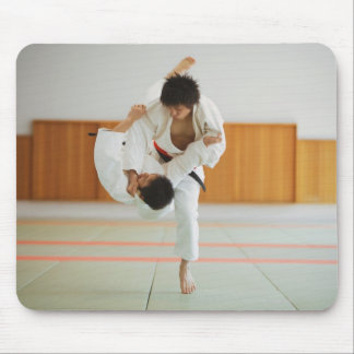 Two Men Competing in a Judo Match Mouse Pad