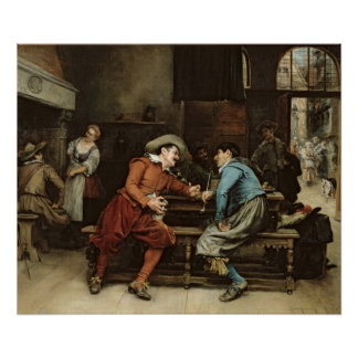 Two Men Talking in a Tavern Posters