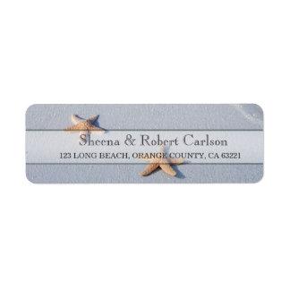 Two of Us | Ocean Love Starfish Wedding Address Return Address Label