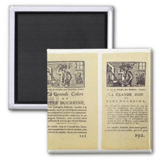 Two pages from 'La Grande Colere de Pere Square Magnet
