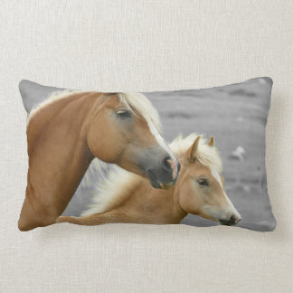 Two Palomino Horses Double Sided Long Pillow