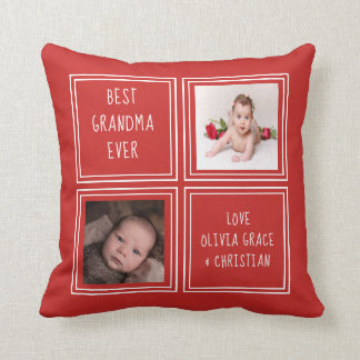 Two Photo Personalised One of a Kind Template Cushion