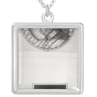 Two portraits of Quintus Septimus Silver Plated Necklace