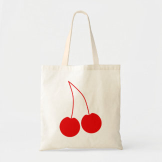Two Red Cherries. Budget Tote Bag