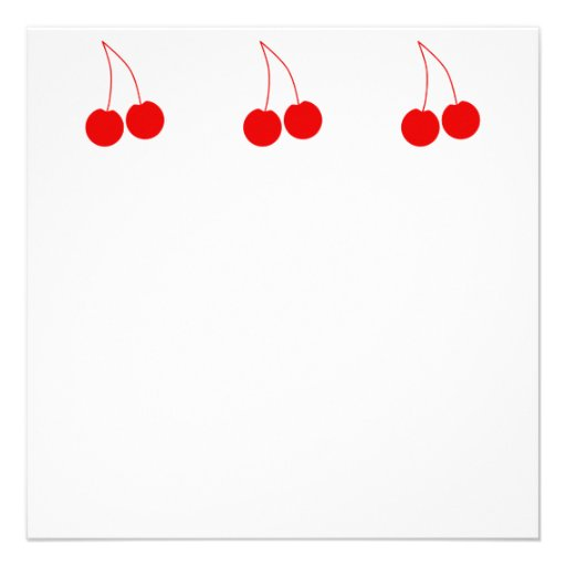 Two Red Cherries. Personalized Invitations