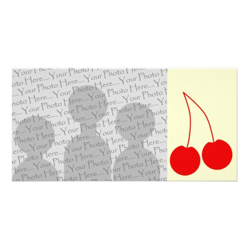 Two Red Cherries. Photo Card