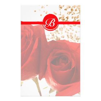 Two Red Roses Stationery