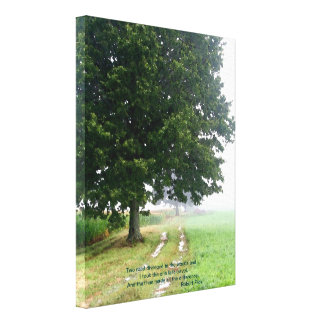 Two Roads Diverged Canvas Gallery Wrap Canvas